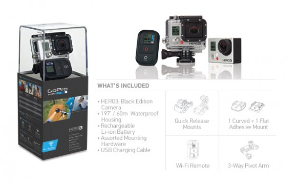 GoPro Hero 3 Black Edition Lieferumfang
