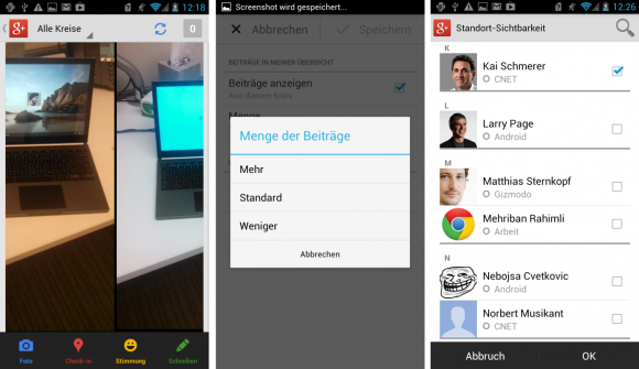 Google+: Update verbessert Stream, Fotos, Profile und Communities (Foto: CNET)