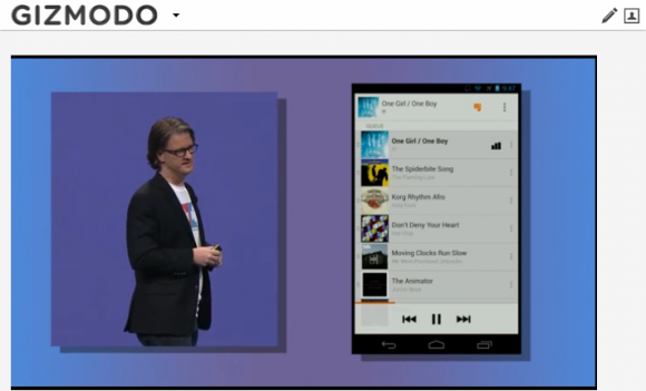 Google I/O: Google führt abobasierten Musik-Streaming-Dienst Play Music All Access ein (Screenshot: Gizmodo.de)