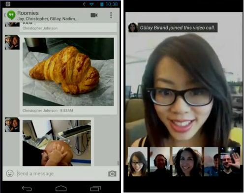 Googles neue Messanging-App Hangouts (Screenshot: CNET.de, Foto: Google)