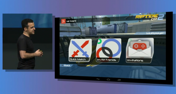 Google I/O: Riptide 2 mit neuen Multiplayer-Features (Screenshot: CNET.de)