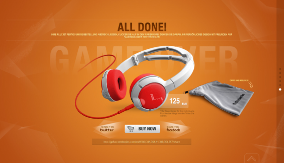 Steelseries Flux: Gaming-Headset zum Zusammenstellen (Screenshot: CNET.de)