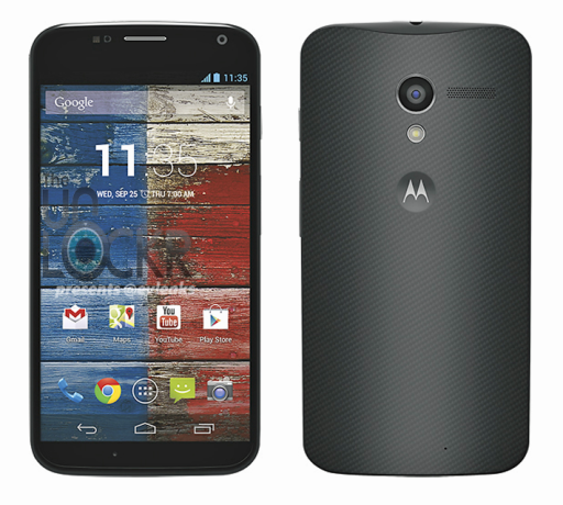 Das Moto X in Schwarz (Bild via The Unlocker).