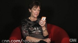 Voice actress Susan Bennett says that she's the original voice behind Apple's Siri. (Credit: CNN video/Screenshot by CNET)