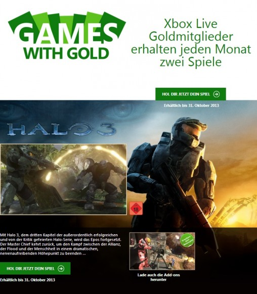 Xbox One: Games with Gold läuft nach Launch der neuen Microsoft-Konsole weiter