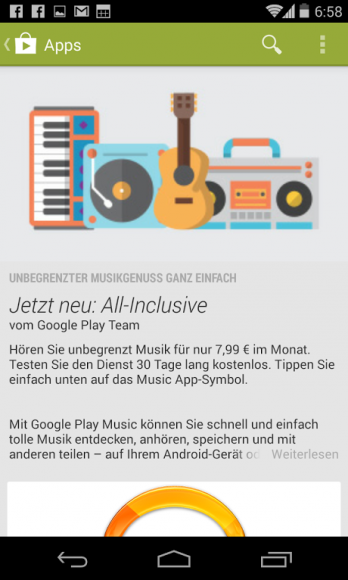 Android: Google Play Music All-Inclusive in Deutschland gestartet