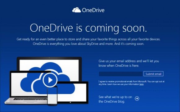 Microsoft Skydrive wird in OneDrive umbenannt