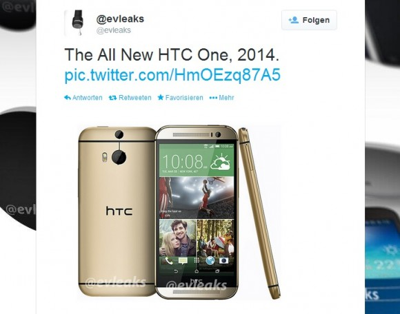 The All New HTC One in Gold