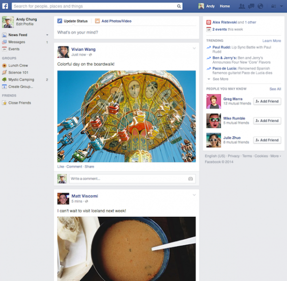 Facebook: News Feed erhält neues Design