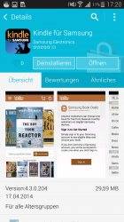 Kindle für Samsung (Screenshot: CNET.de)