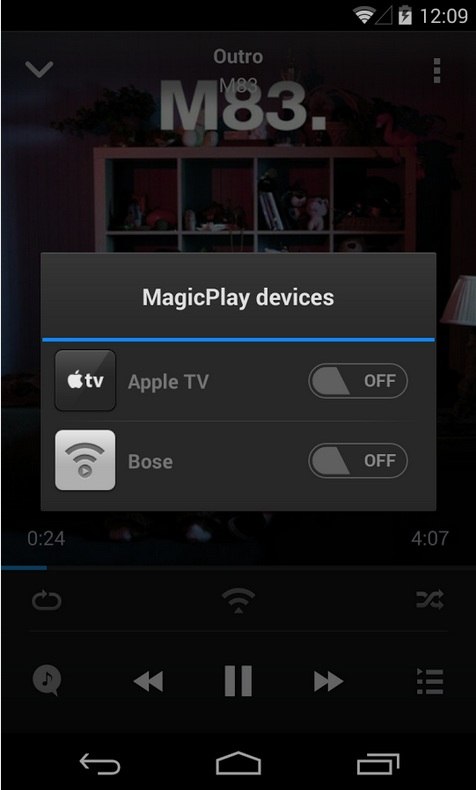 how to play music through airplay