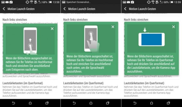 HTC One (M8): Motion Launch Gesten im Test