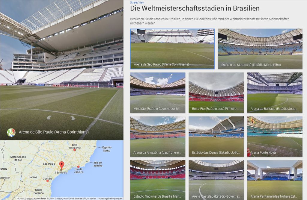 mit google street view die wm stadien besichtigen. Black Bedroom Furniture Sets. Home Design Ideas