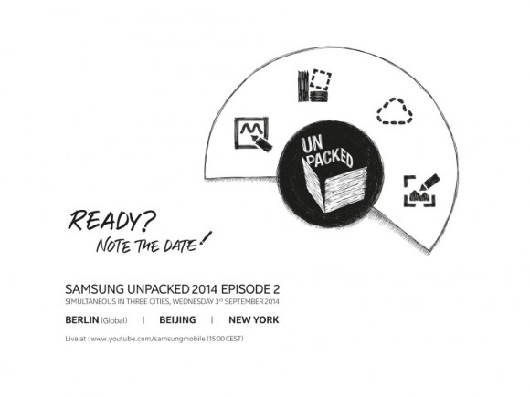 Samsung Galaxy Note 4: Unpacked-Event für 3. September angekündigt