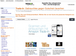 Amazon Trade-in (Screenshot: CNET.de)