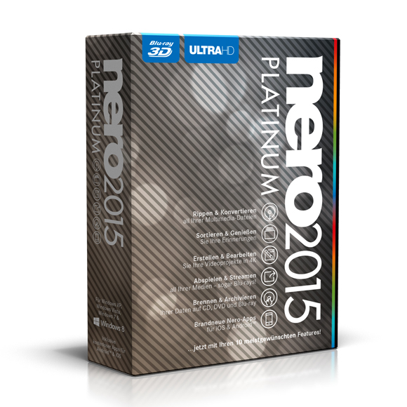 Multimedia-Software-Paket Nero 2015 Platinum (Foto: Nero)