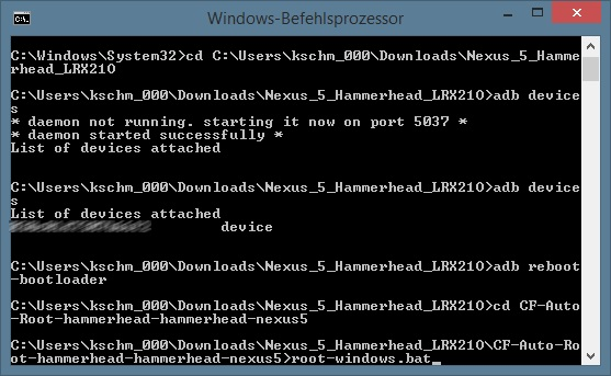CF-Auto-Root (Screenshot: ZDNet.de).