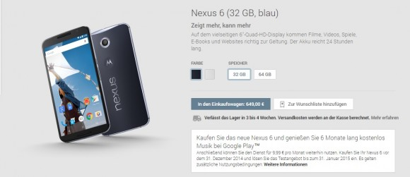 Nexus 6 (Screenshot: CNET).