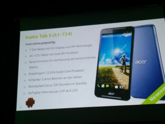 Acer Iconia Talk S (Foto: CNET).