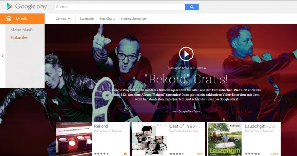 Das Album Rekord bei Google Play (Screenshot: CNET)