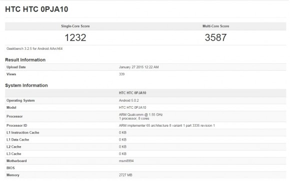 Geekbench 3 (Screenshot: CNET).