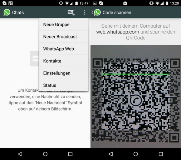 WhatsApp (Screenshot: CNET).