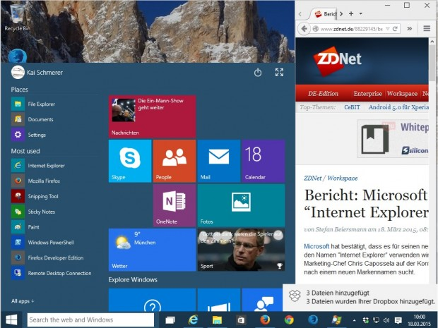(Screenshot: ZDNet.de).