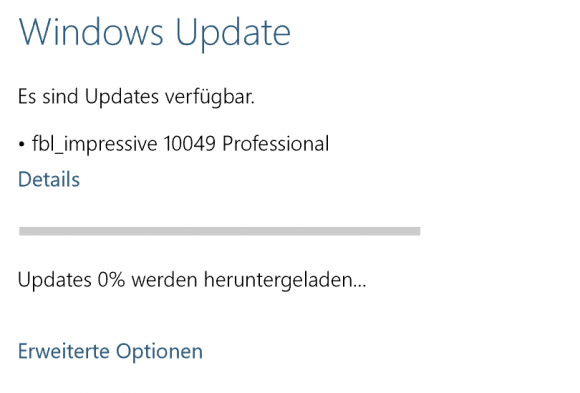 Windows 10 Update Build 10049 (Screenshot: ZDNet.de)