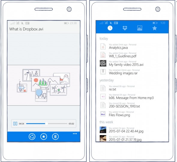 Dropbox für Windows Phone 2.2 (Bild: Dropbox)