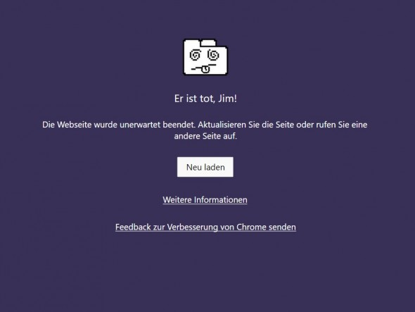 Er ist tot, Jim (Screenshot: ZDNet.de)