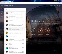 Webclient für Hangouts (Screenshot: Google