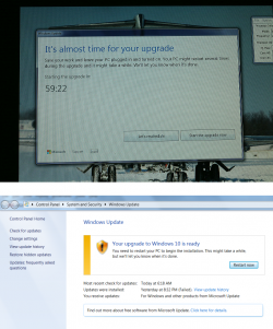 Microsoft zwingt manche Systeme praktisch zum Upgrade auf Windows 10 (Screenshots via Ultimate Outsider).