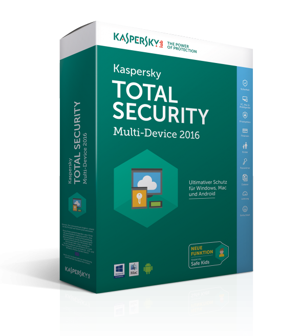 Kaspersky Total Security - Multi-Device 2016 (Bild: Kaspersky)