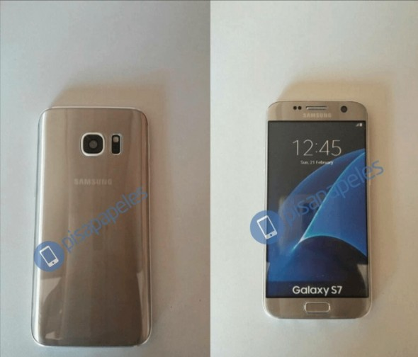 "Samsung Galaxy S7 in Gold (Bild: <a href=""https://pisapapeles.net/chile-samsung-galaxy-s7-filtracion/"">Pispapeles</a>)"