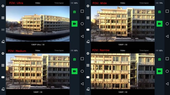 YI 4K : Field of View (FOV) (Bild: ZDNet.de)