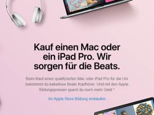 "Apples ""Back to School""-Rabattaktion startet heute in Deutschland"