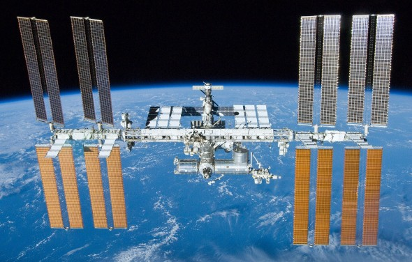 International Space Station after undocking of STS-132 (Bild: Public Domain, 23.05.2010)